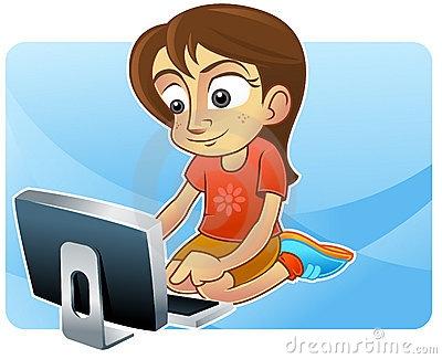 Internet Surfing Clipart.