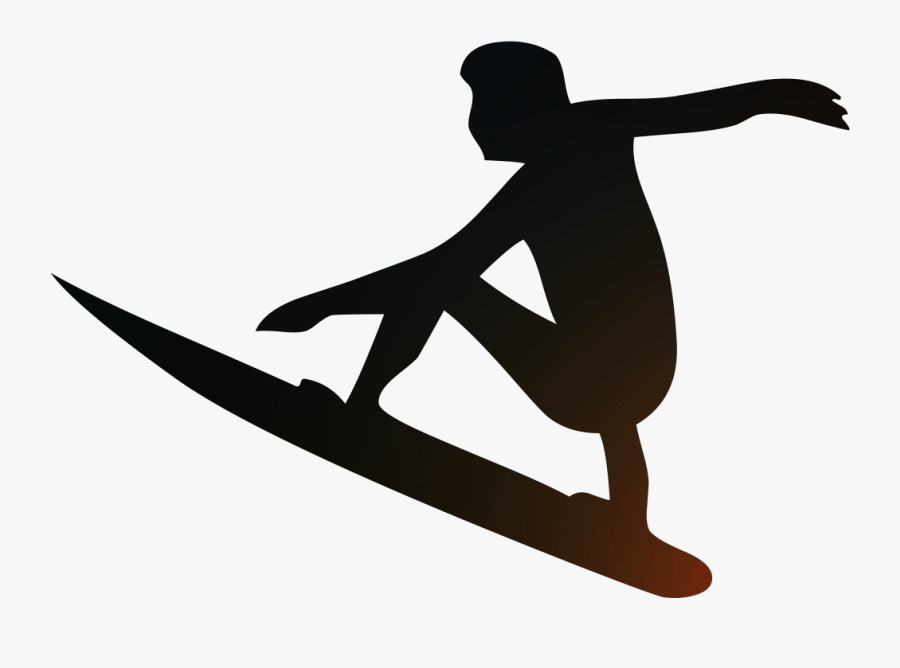 Surfing Scalable Vector Graphics Wind Wave Silhouette.