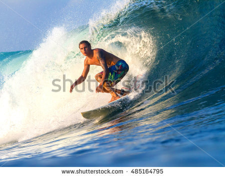 Surfing Stock Photos, Royalty.