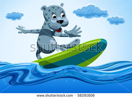 Surfing Cartoon Stock Photos, Royalty.