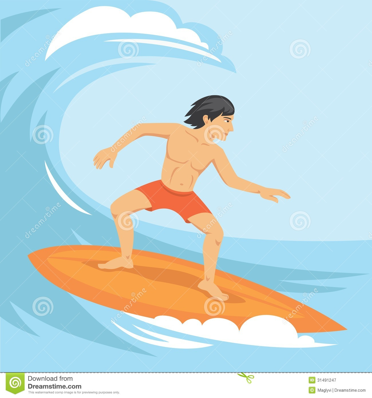 Surfing Royalty Free Stock Photography.