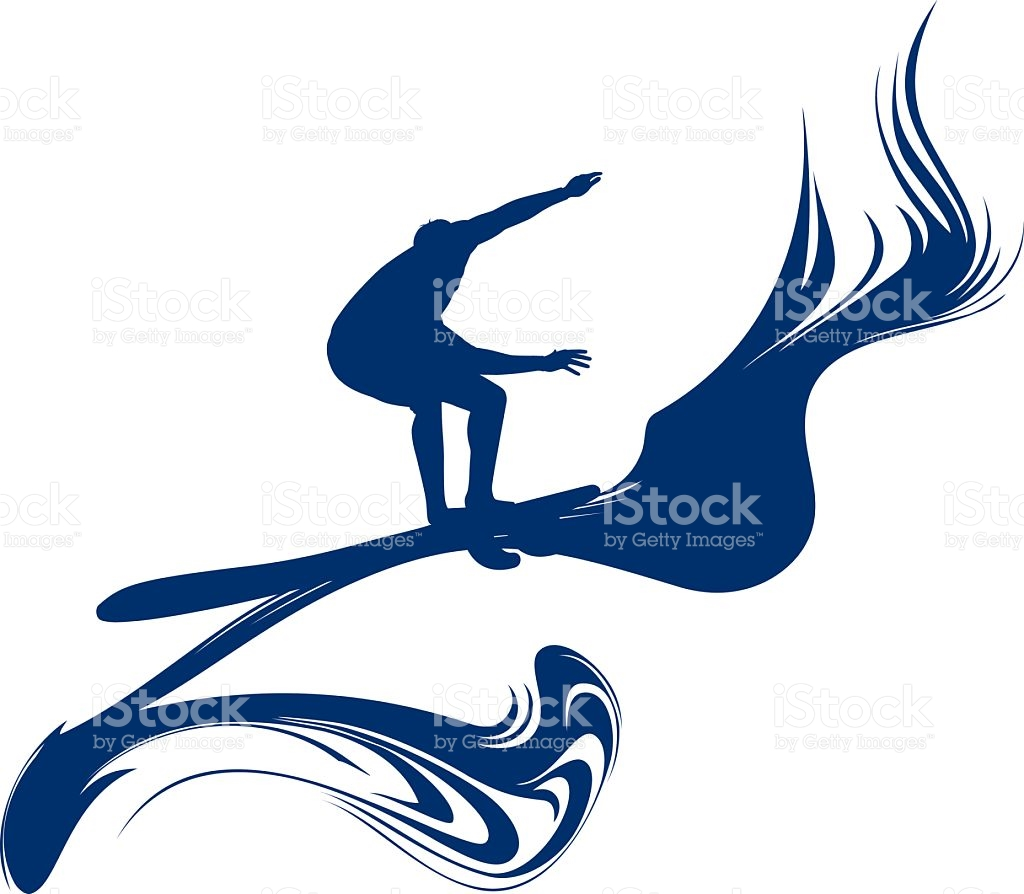 Surf Rider Riding The Pipeline Wave stock vector art 617581064.