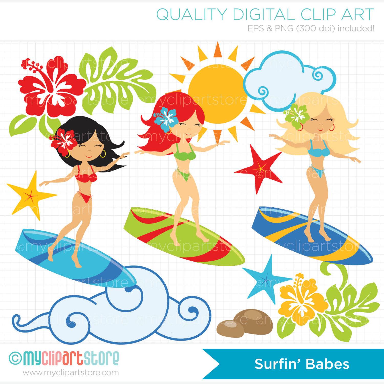 Surf board clipart.