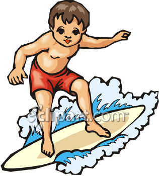 Surfing Clipart.