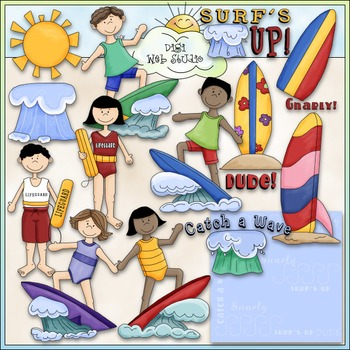 Surf\'s Up Clip Art.