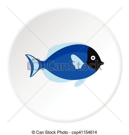 Vector Clip Art of Surgeon fish icon, flat style.