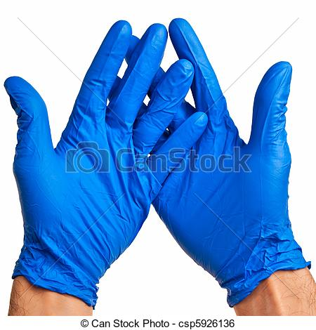 Surgical gloves clipart.