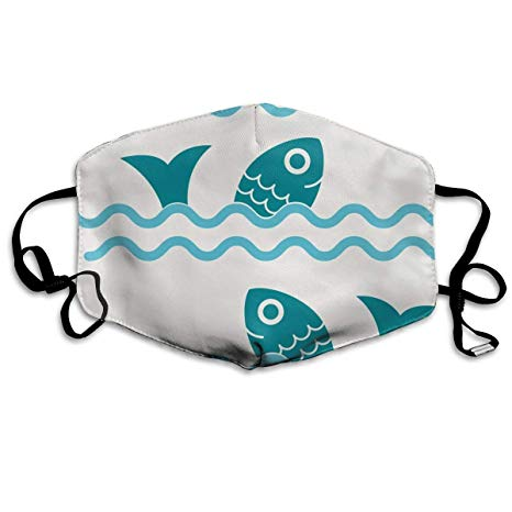 Amazon.com: FunnyCustom Mouth Mask Pattern Clipart Ocean.