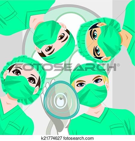 Surgical nurse clipart.