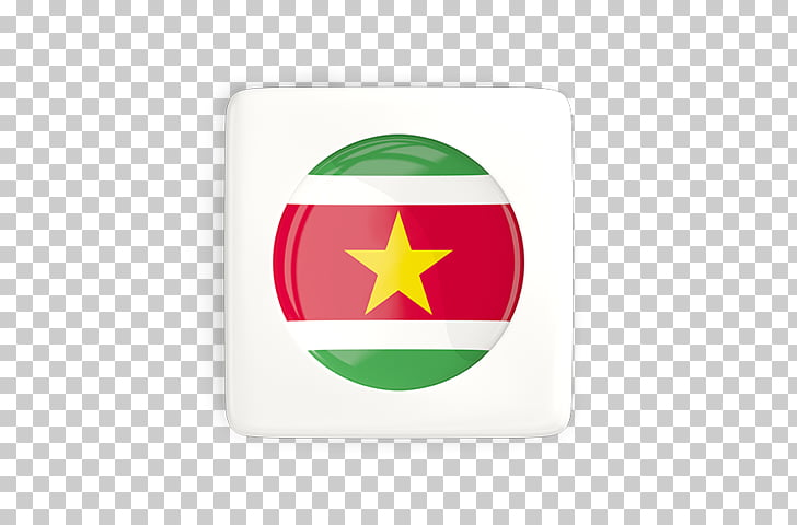 Green Flag of Suriname, design PNG clipart.