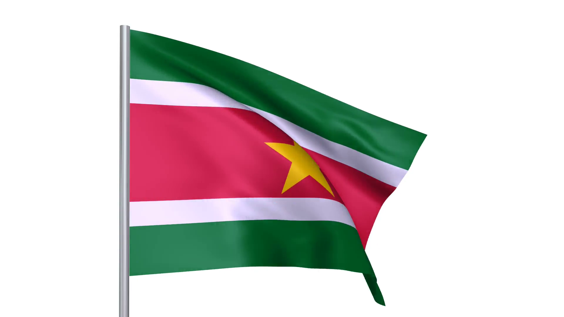 Flags country Republic of Suriname national flag Motion Background.