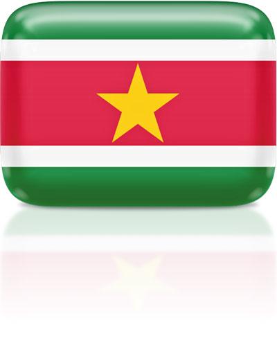 Flag Icons of Suriname.