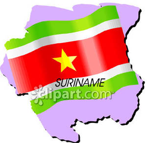 Suriname_With_Surinamese_Flag_Royalty_Free_Clipart_Picture_090115.