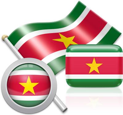 Flag of Suriname.