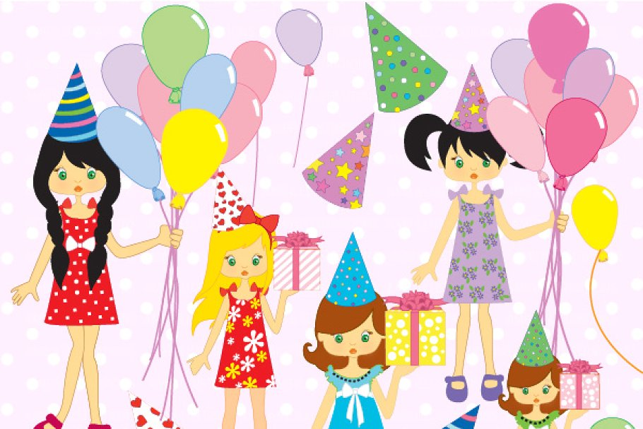 Birthday Party Clipart AMB.