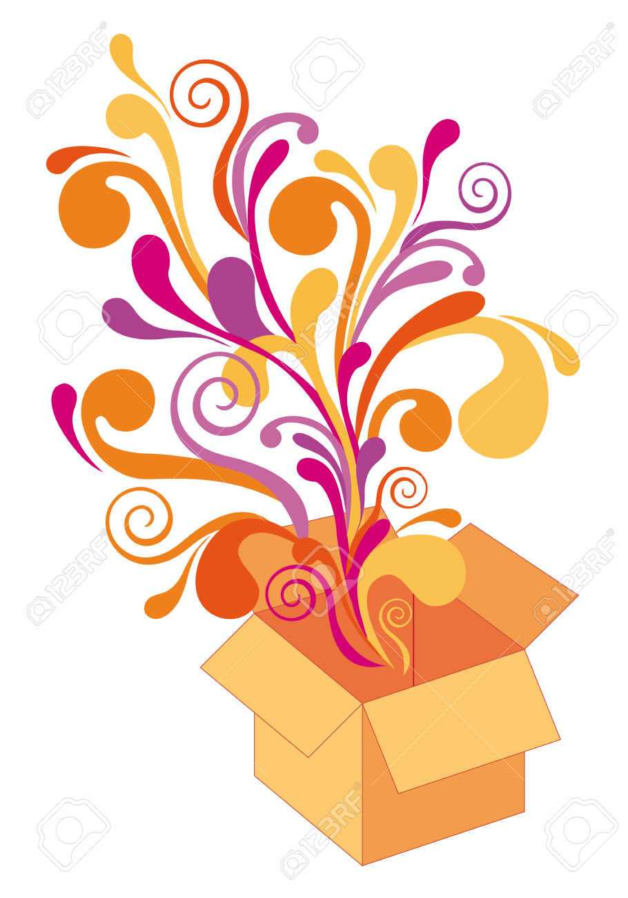 Surprise Box Clipart.