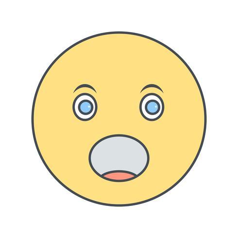 Surprised Emoji Vector Icon.