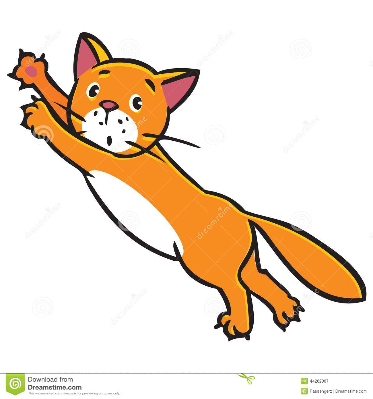Jumping Cat Clipart.