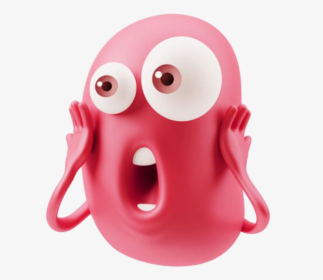 Surprised Face Expression, Face Clipart, Surprised, Human.