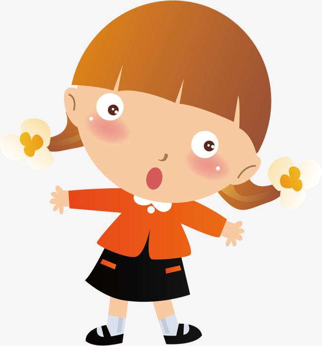 Surprised Girl, Girl Vector, Cartoon, Girl #412595.