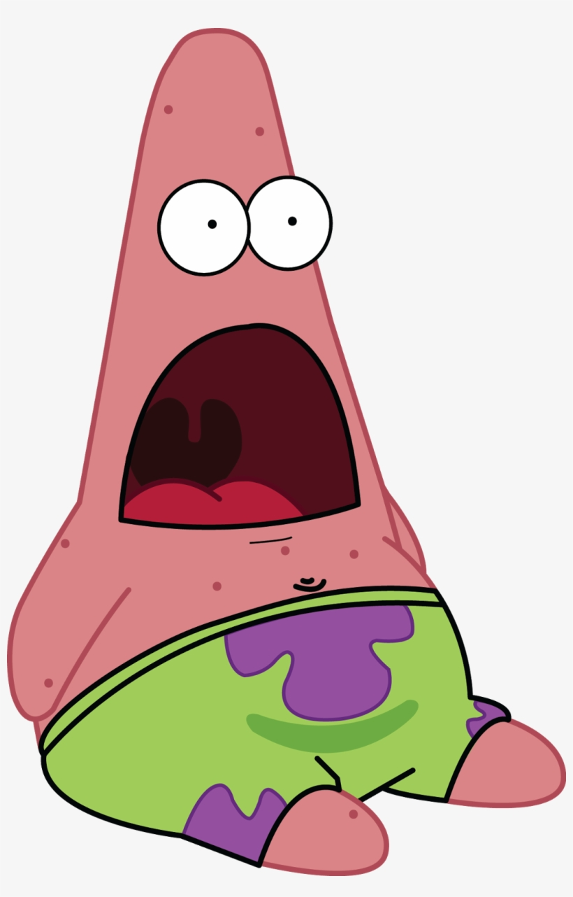 Shocked Patrick Png Clip Library Download.