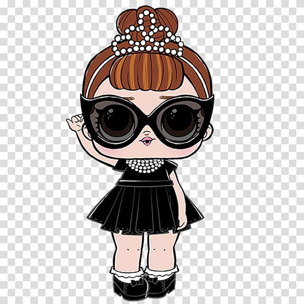Black dressed female , Doll L.O.L. Surprise! Lil Sisters.
