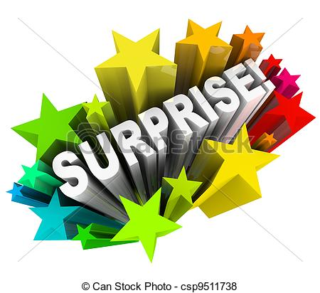 Stock Illustration of Surprise Starburst Word Exciting News.