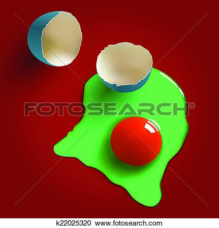 Clipart of surreal raw egg k22025320.