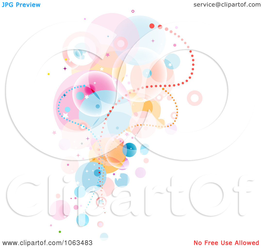 Clipart Surreal Background Of Bubbles On White.