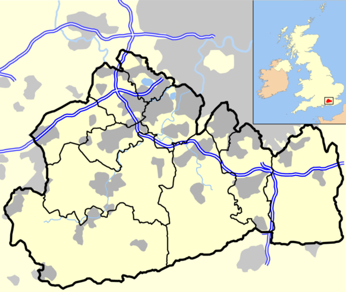 Surrey Outline Map With UKpng Clipart.