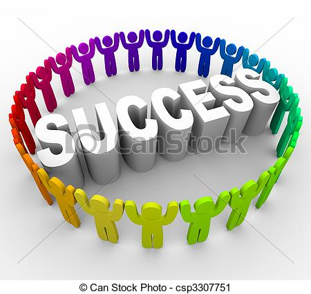 Clipart of Succeed.