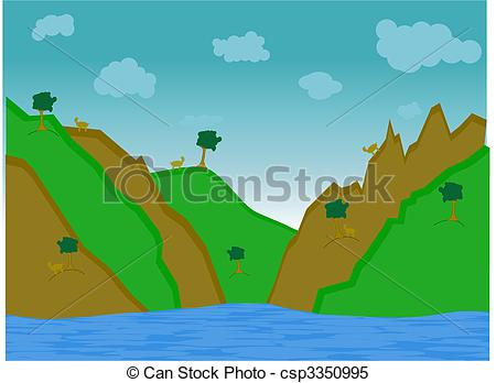 Clipart Vector of Goat Hill.