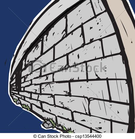 Vector Clipart of Surrounding Wall.