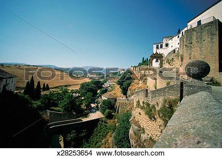 Stock Photo of Surrounding Wall, Ronda, Spain x28253654.
