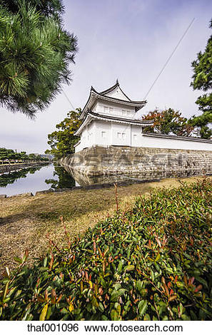 Stock Images of Japan, Kyoto, Nijo Castle, Surrounding wall.