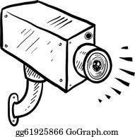Surveillance Camera Clip Art.