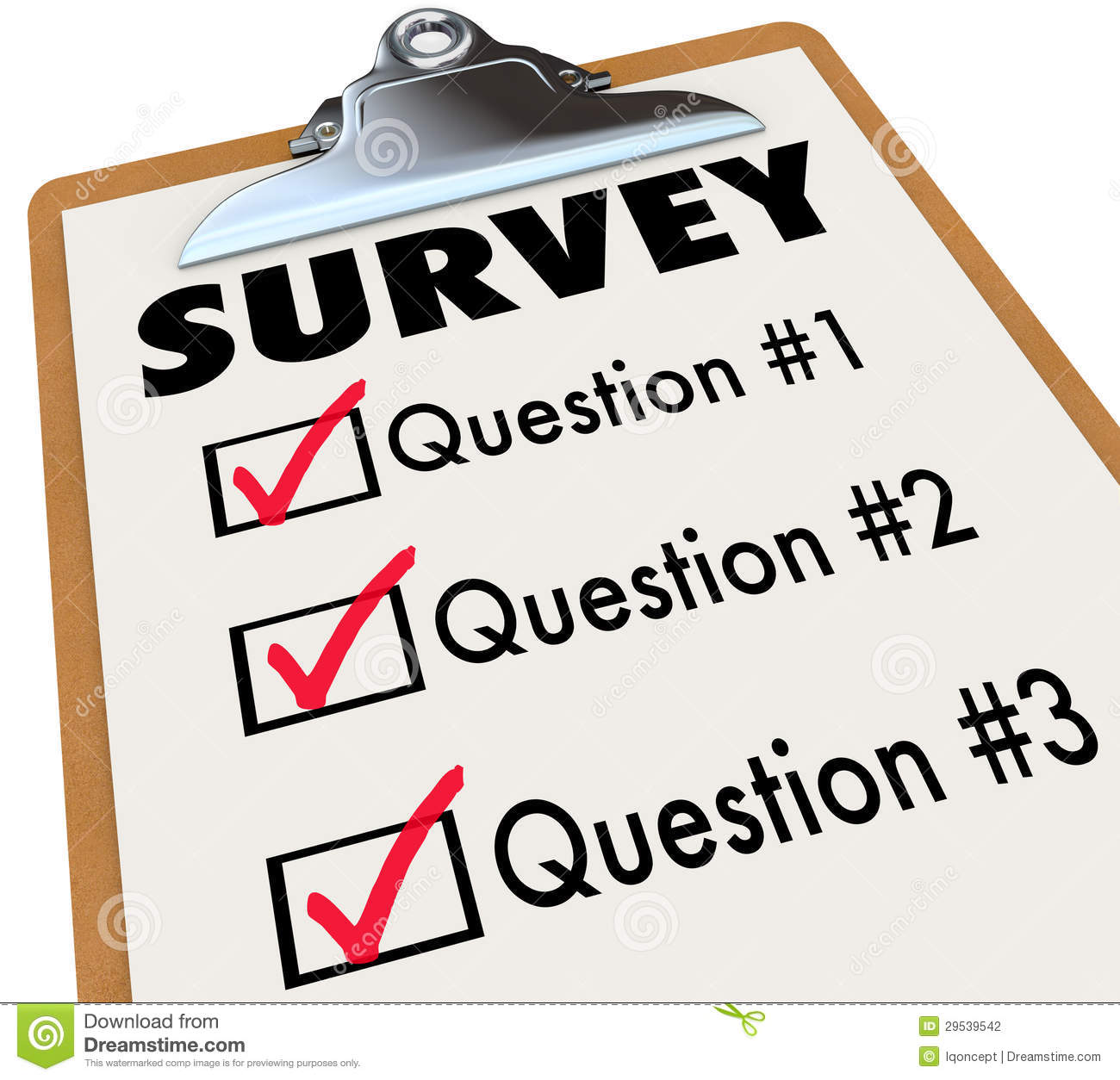 Student survey clipart.