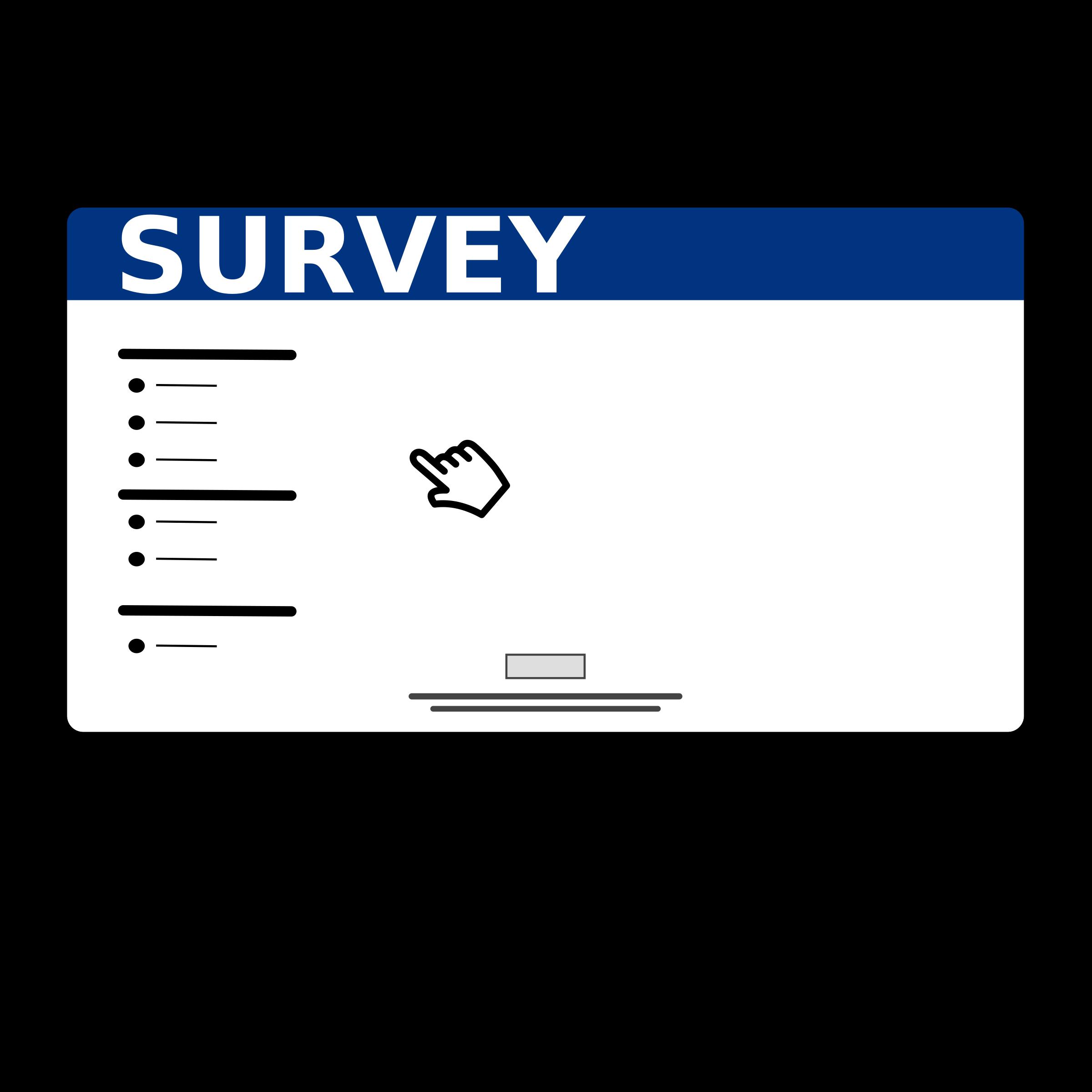 Survey Clipart.