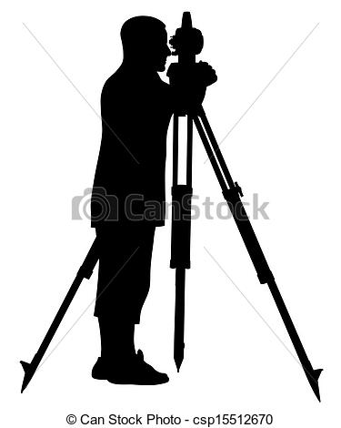 Land surveying clipart.