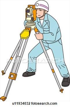 Land Surveyor Clipart.