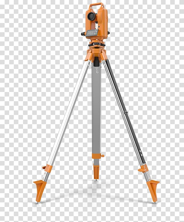 Orange and gray metal leveling tool, Theodolite Surveyor.