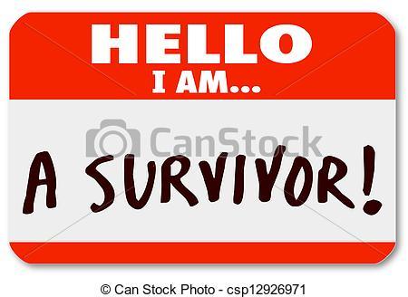 Survivor Word Clipart.
