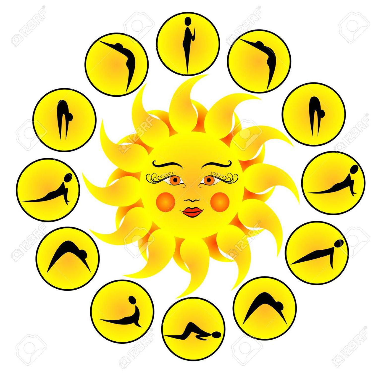 Surya Namaskar (Sun Salutation).
