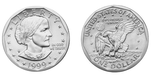 celebrity image gallery: Susan B Anthony Dollar Coin.
