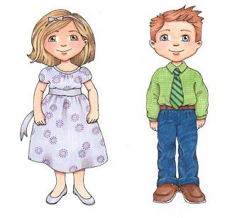 Susan Fitch is sooo kind to design these cute little people.