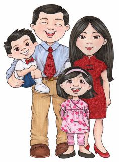 susan fitch design: more family clipart. Mother and Child.