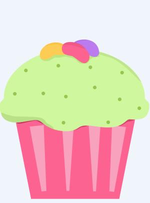 Cute easter cupcake clipart.
