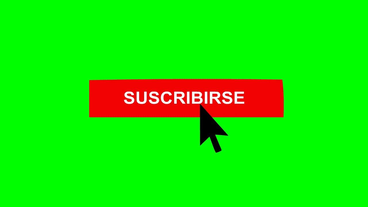 Boton de suscribirse y activar la campanita de Youtube Pantalla Verde.