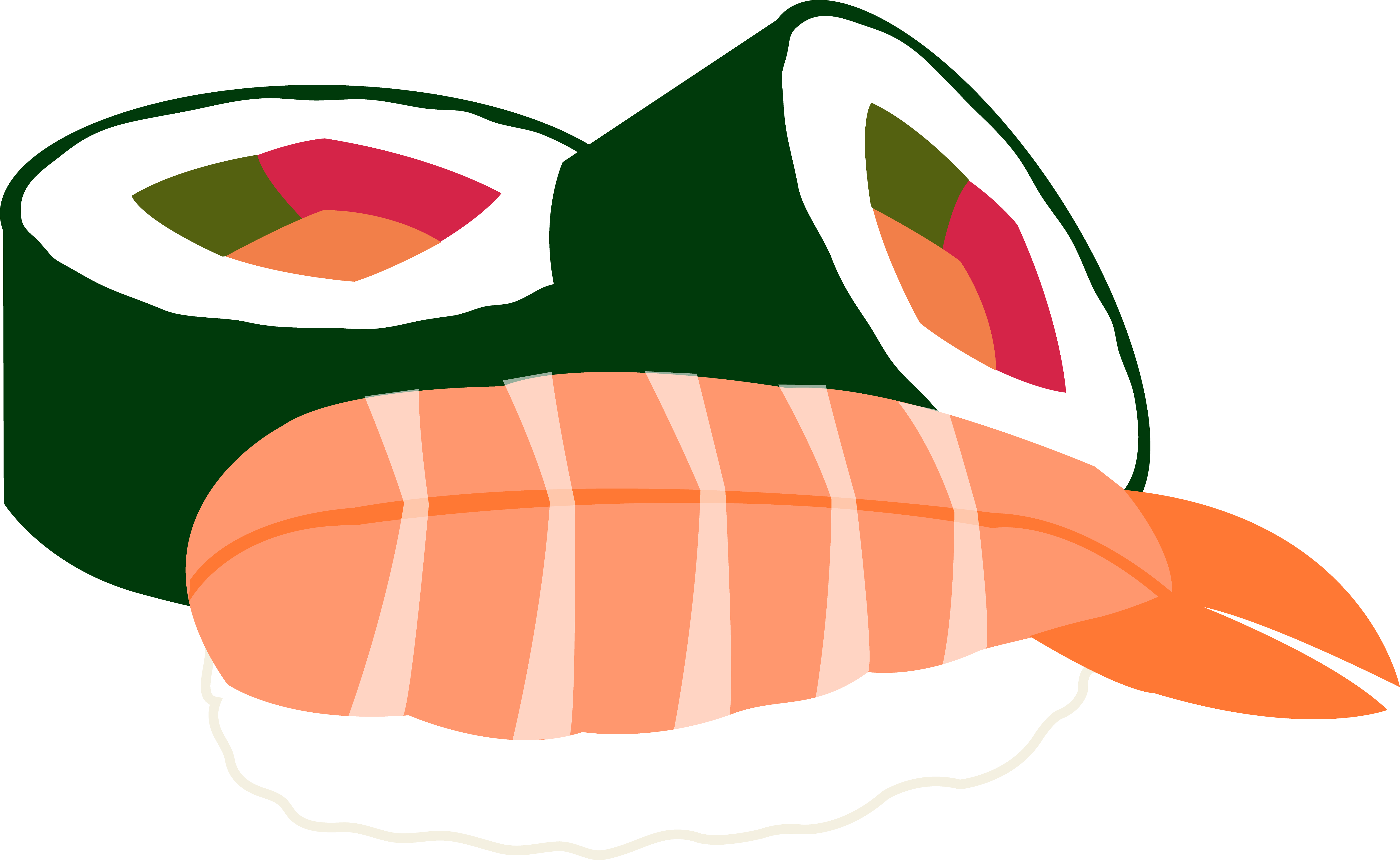 Sushi Cartoon Clipart.