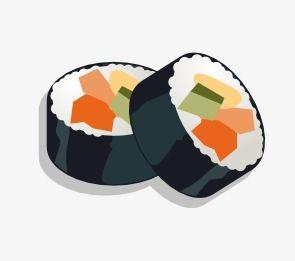 Sushi, Cartoon Sushi, Hd Sushi PNG Transparent Clipart Image.
